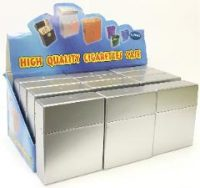 3127SILVER Metallic Silver Flip Open Holds 27 King Size Cigarettes (12PC)