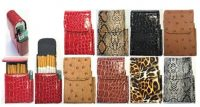 3221N. Animal Designs Leatherette Cigarette Case Dispenser; 100s (12PC)