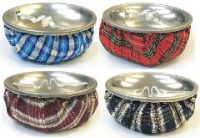 ASH11 Bean Bag Ashtray W/ Silver Top Assorted Colors (12PC)