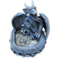 ASH115-1. Dragon Design Glow Resin Ashtray (3PC)