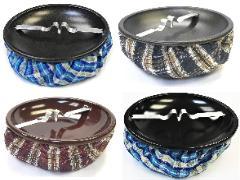 ASH11C Bean Bag Ashtray W/ Color Top Assorted Colors (12PC)