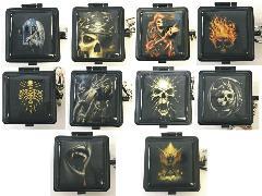 ASH15SK Skull Designs Pocket Ashtray Assorted Styles (12PC)