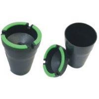 ASH1G. Glow Rim 2-In-1 Butt Bucket Ashtray (12PC)