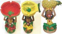 ASH2037-123 Jamaican Ashtray (3PC)