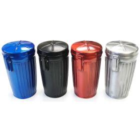 ASH4M. Small Trash Can Design Metal Ashtray (12PC)