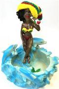 ASH5375 Jamaican Ashtray (3PC)