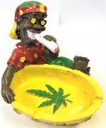 ASH674-2 Jamaican Ashtray (3PC)