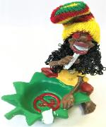 ASH682 Jamaican Ashtray; Assorted Colors (3PC)