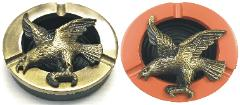 ASH920 Eagle Design Metal Ashtray Assorted Colors (12PC)