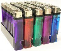 BO1C. Clear Disposable Lighter W/ Bottle Opener (50PC)