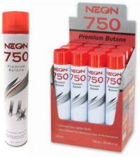 BT11N750 750mL Neon 11X Refined Butane Refill (12PC)