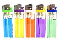 CLIGHT2 Assorted Double Color Clear Disposable Lighter (50PC) *