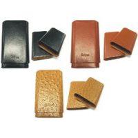 3364. Cedar Lined Leatherette Cigar Case (3PC)