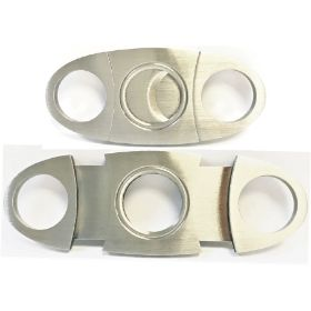 CUT152. Double Blade Stainless Steel Cigar Cutter (12PC)
