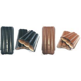 S3351. 3 Finger Leather Cigar Case (4PC)