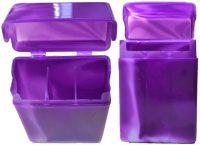 3114D Marble Plastic Cigarette Case w/ Dividers King Size, Flip Open (12PC)