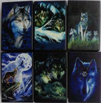 3114D17-2 Wolf Design Plastic Cigarette Case King Size, Flip Open(12PC)