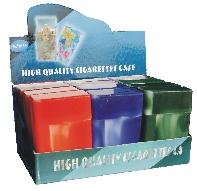 3114M. Marbled Designs Plastic Cigarette Case King Size, Flip Open (12PC)