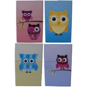 3114O Owl Design King Size Tin Cigarette Case (12PC)
