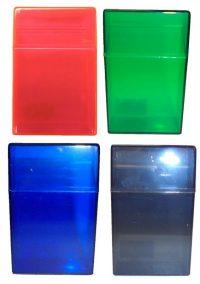 3114T Transparent Plastic Cigarette Case King Size, Flip Open (12PC)