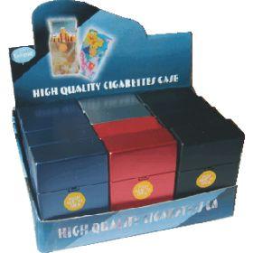 3115P2 Metallic Plastic Cigarette Case 100s Size, Flip Open (12PC)