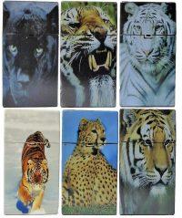 3116D15 Tiger Design Plastic Cigarette Case King Size, Push Open (12PC)