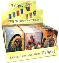 3116IN Indian Design Plastic Cigarette Case King Size, Push Open (12PC)