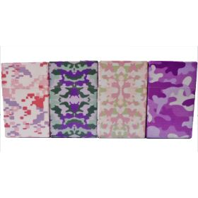 3117CPINK Pink Camouflage Designs Plastic Cigarette Case 100s Size Push Open (12PC)
