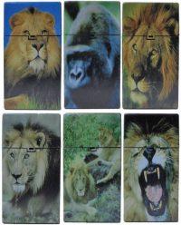 3117D18 Lion Designs Plastic Cigarette Case 100s Size Push Open (12PC)