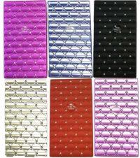3117M20 Diamond Design Plastic Cigarette Case 100s Size, Push Open (12PC)