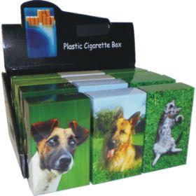 3118CD. Cat & Dog Design King Size Tin Cigarette Case (12PC)
