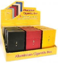 3119PO Assorted Colors Aluminum Push Open; Fits 100s (12PC)
