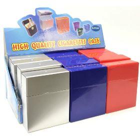 3127MIX. X-Large Wide Plastic Cigarette Case; Kings (12PC)