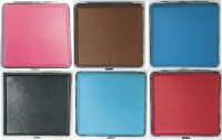 3102L20-1 Mixed Designs Leather Wrapped Holds 20 Cigarettes (12PC)
