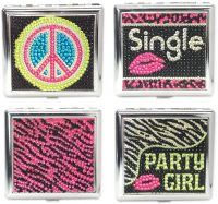 3102PARTY1 Studded Designs Holds 18 Cigarettes King Size (12PC)