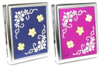 3102ST16F Studded Flower Designs Holds 16 Cigarettes King Size (12PC)