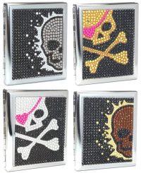 3102ST18SK Studded Skull Designs Holds 18 Cigarettes King Size (12PC)