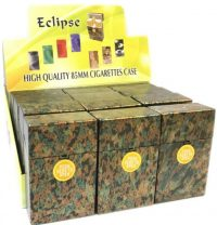 3116MC Metallic Camouflage Design Holds King Size Cigarettes Push To Open (12PC)
