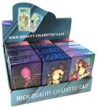 3116TAT3 Tattoo Design Plastic Cigarette Case King Size, Push Open (12PC)