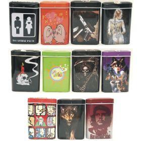 TINSM. Small Band-Aid Box Stye Tin Cigarette Case; KINGS (12PC)