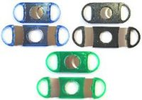 CUT24M Mixed Colors Double Blade Plastic Cigar Cutter (12PC)*