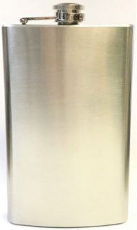 FL10OZ Stainless Steel Flask Holds Up To 10 oz (3PC) *