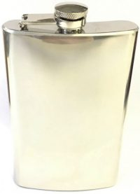 FL10COZ High Shine Stainless Steel Flask Holds Up To 10 oz (3PC) *