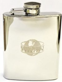 FL3OZ. Stainless, Black, or Brown Steel Flask ; Holds Up To 3 oz (12PC)