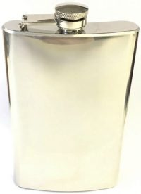 FL5COZ High Shine Stainless Steel Flask Holds Up To 5 oz (3PC) *