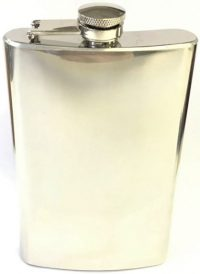 FL6COZ High Shine Stainless Steel Flask Holds Up To 6 oz (3PC) *