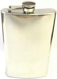 FL7COZ High Shine Stainless Steel Flask Holds Up To 7 oz (3PC) *