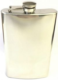 FL8COZ High Shine Stainless Steel Flask Holds Up To 8 oz (3PC) *