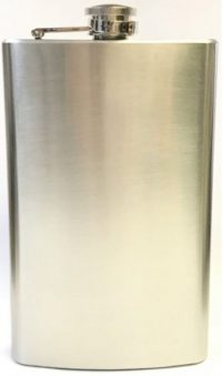FL9OZ Stainless Steel Flask Holds Up To 9 oz (3PC) *