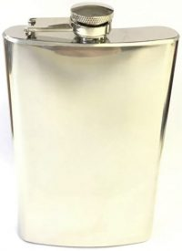 FL9COZ High Shine Stainless Steel Flask Holds Up To 9 oz (3PC) *